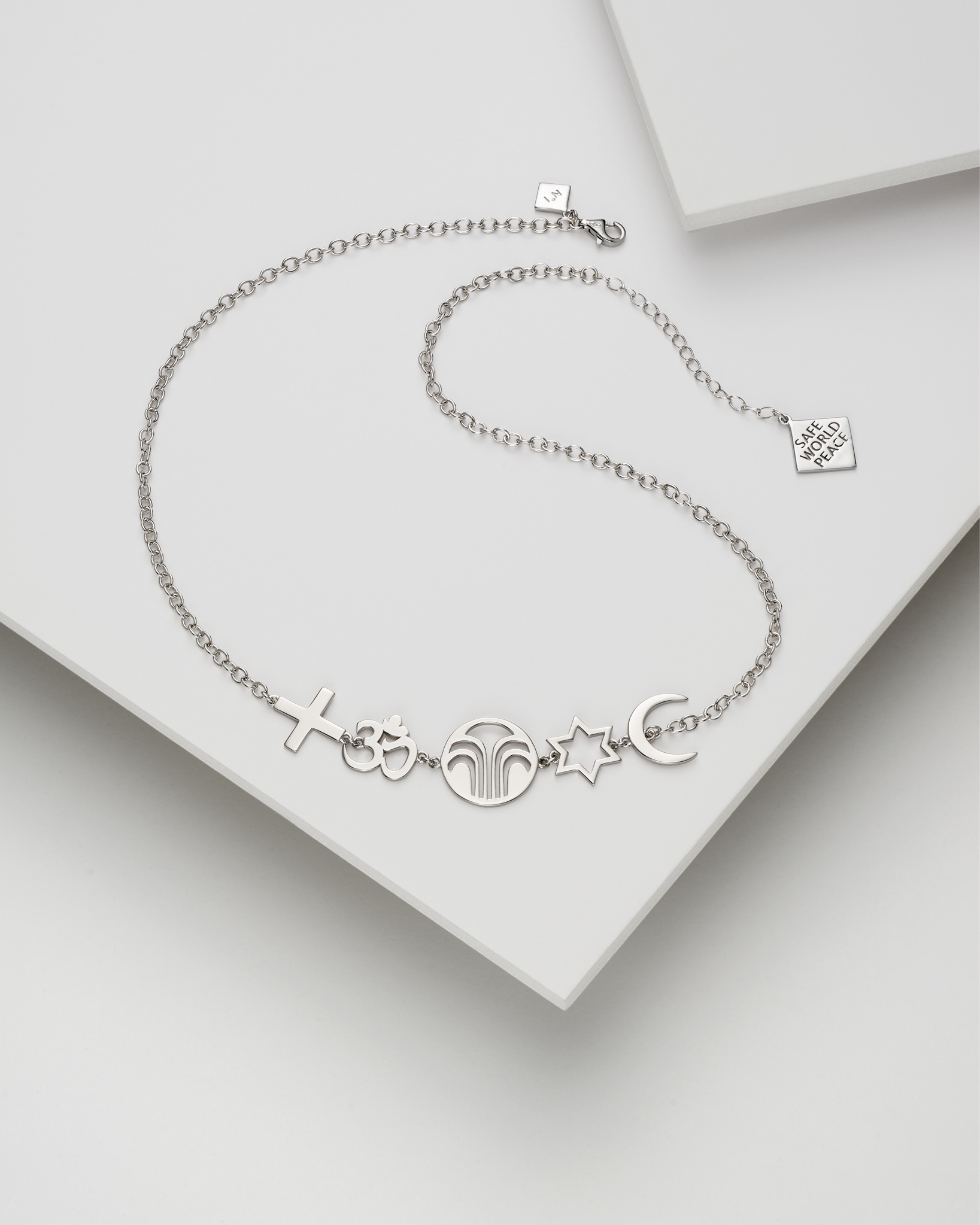 Safe World Peace, Force for Good collection - Necklace Silver